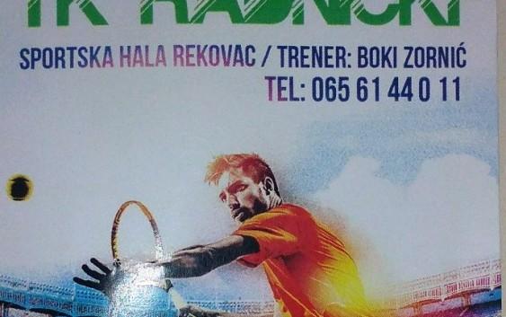 Od januara startuje škola tenisa u Rekovcu