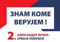 "Proglašena lista ""Aleksandar Vučić – Srbija pobeđuje"""